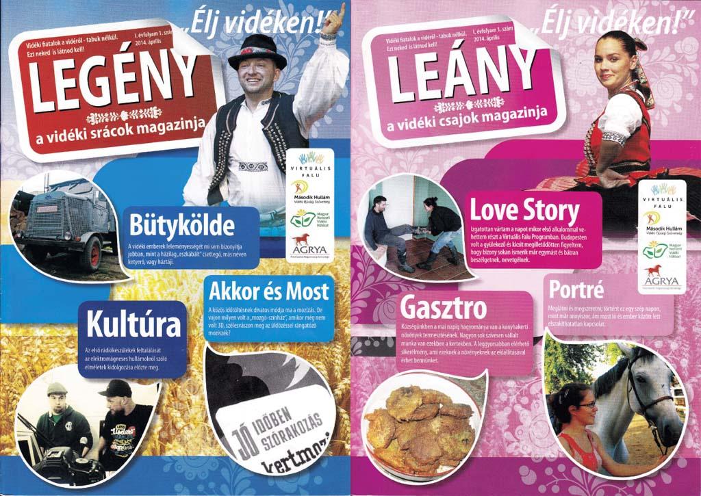Legény - Leány magazion, a Fiatal Gazdák Magyarországi Szövetsége kiadványai