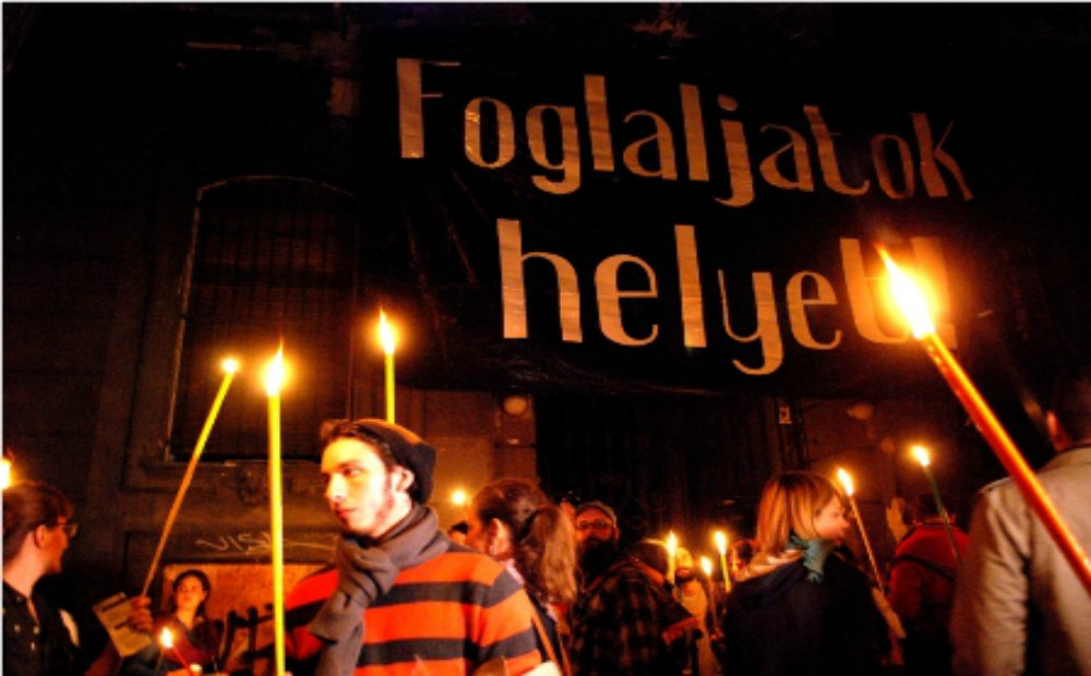 Aktivisták befoglaltak egy épületet Budapesten
