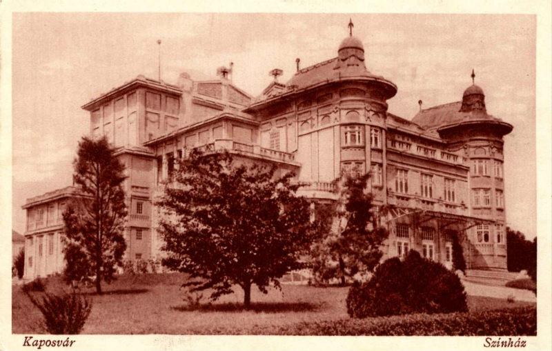 A kaposvári színház - régi fényében