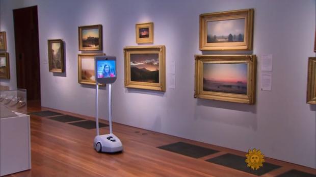 Robotok tartanak virtuális tárlatvezetést