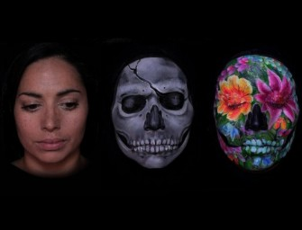 Az arcára festette a művésznő az újjászületés körforgását – videó
