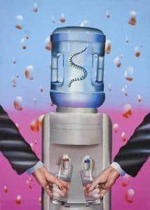 Keresztesi Botond - The meeting (2015-16,akril,vászon,70x50 cm)