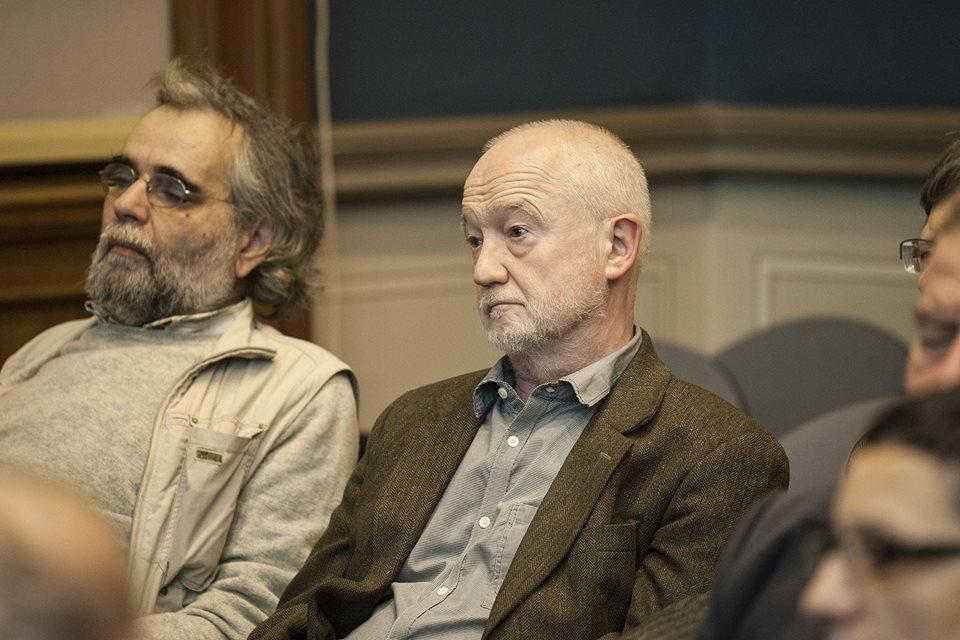 Nádasdy Ádám friss Moholy-Nagy-díjas író, műfordító, nyelvész a székfoglaló előadáson (fotó: Szigeti Tamás)