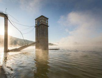 A nap fotói: Láthatóvá vált a vízzel elárasztott egykori település
