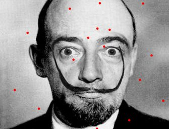 A kiállítás reklámarca: Vlagyimir Iljics Dalí