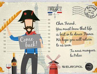 Ezeket a képeslapokat küldte Európa legkeresettebb bűnözőinek az Europol