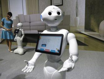 Tenyérjós robot Tajvan legősibb templomában